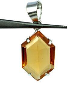 925 Sterling Silver Fancy Pendant Citrine Gemstone 23.80 Ct AGI Certified H9752