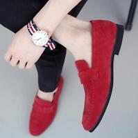 US 6.5-11.5 Mens Loafers Dress Formal Suede Korean Shoes Slip On Moccasin Casual