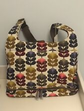ORLA KIELY ETC TAPESTRY STEM PRINT MULTI BABY CHANGING BAG AND CHANGING MAT BNWT