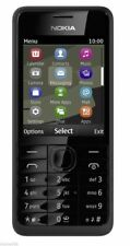 BRAND NEW BOXED NOKIA 301 BLACK UNLOCKED 3G MOBILE PHONE  BLUETOOTH FM RADIO