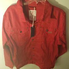 Parish Nation Jean Jacket Mens Size XL Red New