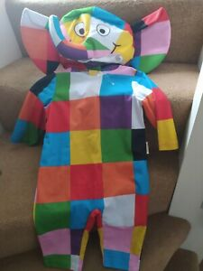 ELMER THE PATCHWORK ELEPHANT FANCY DRESS OUTFIT AGE 1 2 12-18 MONTHS ASDA GEORGE