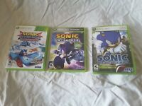 LOT OF 3 SONIC GAMES Sonic the Hedgehog Unleashed All Star Racing Transformed