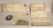 Vintage Ephemera Paper Lot Letters W/ Envelopes, Postcards & Photo 1907-1919