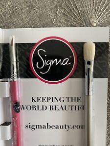 Sigma E25 Blending Brush Travel size & E05 Eyeliner Brush Travel size NEW