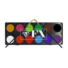 Diamond FX Face Paint Palette ~ 12 x Essential Colours