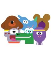 Hey Duggee 45mm 64mm Circle Rectangle Personalised Birthday Sticker Party S098