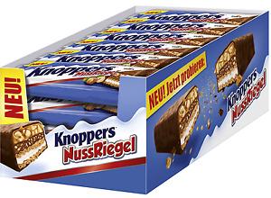 Knoppers Nussriegel - Schokoriegel Riegel - NEUHEIT - 24 Stück