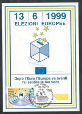 1999 ITALIA CARTOLINA MAXIMUM ELEZIONI EUROPEE ANNULLO FDC - ED