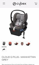 Cybex Cloud Q Platinum Recline Load Leg Infant Car Seat. Manhattan Gray
