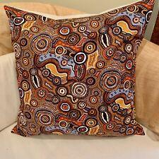 "18"" (45cm) Aboriginal Community ""Dreamtime"" JIJAKA Fabric. Handmade Australia"