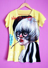 Cartoon Polyester Short Sleeve T-Shirts for Women