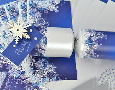 8 Pearl White Snowflake Place Name Make Your Own Christmas Crackers Kit