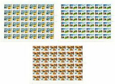 RUSSIA 2009 Sc# 7121-7123, Full Sheets, Regions of Russia, MNH