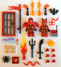 NEW LEGO LUCIFER & LUCY LOT mr. & mrs. satan minifig minifigure devil halloween