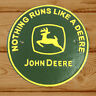John Deere Tractor Sign Badge Cast Iron Vintage Style Advertising Logo Farm 24cm