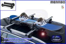 Porta snowboard 2 portasci 4 paia omologato kit barre set universale tetto auto