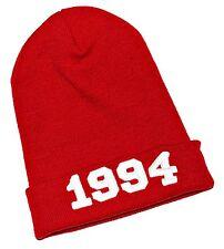 Para Hombre Para Mujer rojo de punto Beanie Hat, 1994, Ma008