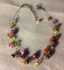 MARKED CHICOS MULTI STRAND GLASS BEAD NECKLACE
