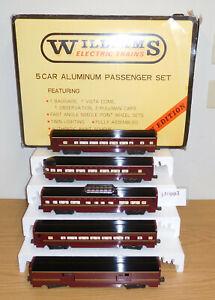 "WILLIAMS CROWN EDITION #2802 PENNSYLVANIA 15"" ALUMINUM PASSENGER 5 CAR TRAIN SET"