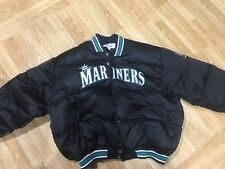 Vtg Seattle Mariners Starter Satin Jacket 3XL Puff Puffer XXL 80% down 20% feath