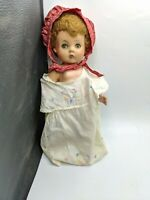"""1950S PLASTIC RUBBER HEAD GIRL BABY DOLL LARGE 15"""" VTG TOY NEWBORN CHUBBY"""