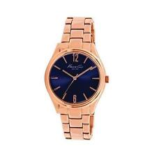 KENNETH COLE NY DRESS BLUE DIAL ROSE GOLD ST. STEEL LADIES WATCH 10021764 NEW