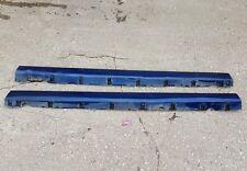 JAGUAR S TYPE R 4.2 V8 SUPERCHARGED PRE FACELIFT 2003 BLUE SIDE SKIRTS X 2