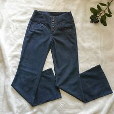 High Waist Flare Size 25 Jeans Flare Dark Blue Wash Guess
