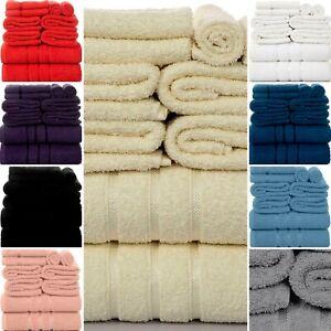 Luxurious 10 Pieces 100% Cotton Towel Bale Set-Face-Hand-Bath Bathroom Gift Set