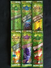 6 x Juicy Jays Hemp Wraps Natural Blueberry Grapes Mango Strawberry Tropical