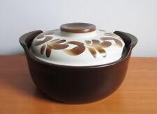"Figgjo Pompeii Lidded Casserole 12401 Stoneware Brown Flowers Norway 8 3/4"""