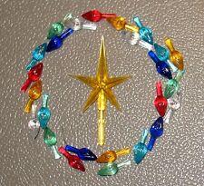 25 SMALL Replacement Ceramic Christmas Tree Twist Light Bulbs Pegs + YELLOW Star