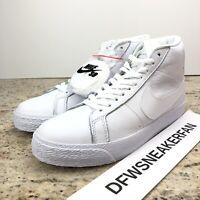 Nike SB Zoom Blazer Mid Triple White 864349-105 Men's Size 12 New