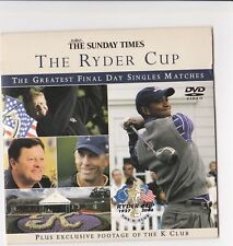 Golf The Sunday Times The Ryder Cup DVD greatest finals day singles matches
