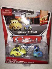 DISNEY PIXAR CARS RACE TEAM LUIGI & GUIDO WITH HEADSETS
