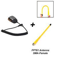 Walkie Talkie Police Handheld Mic Speaker with Antenna for two way radio BF-UV5R
