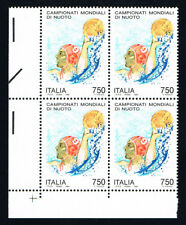 ITALIA 1 QUARTINA CAMPIONATI MONDIALI DI NUOTO TUFFATRICE 1994 nuovo** (BI4025)