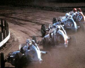 "Vintage 1950's Full Midget Sprint Car Dirt Track Racing 8""x10"" Photo Poster 9"