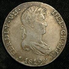 More details for peru 8 reales 1819 ferdinand vii pillar dollar km#201.2 silver genuine (t110)