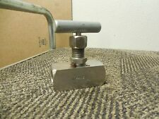 """MANS NEEDLE VALVE 1/2"""" NPT THREADED FF500SS STAINLESS S/S 10000WP 200F NEW"""