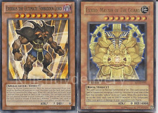 Yugioh cards Exodius The Ultimate Forbidden Lord + Exxod Master of the Guard  NM