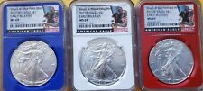 2017 (P)(W)&(S) NGC MS69 SILVER EAGLE 3 COIN SET PHILADELPHIA, WEST PT, SAN FRAN