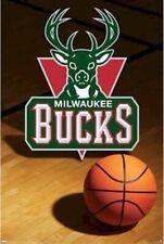 MILWAUKEE BUCKS ~ COURT LOGO 22x34 POSTER NBA Basketball NEW/ROLLED!