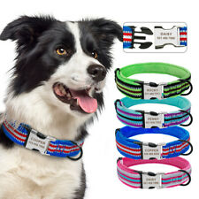 Soft Padded Pet Personalized Collars ID Tags Engraved Reflective for Puppy Dogs