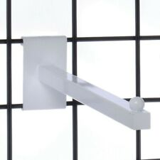 White Grid Wall Straight Out Hook Pack Of Ten