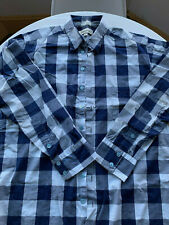 Loden Dager large mens blue plaid dress shirt - Opening Ceremony