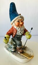 Goebel Co Boy Toni the Snow Skier Merry Gnome Porcelain Germany Story Tag