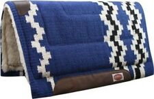 "Showman 36""x34"" BLUE 100% Wool Western Cutter Style Saddle Pad! NEW HORSE TACK!"