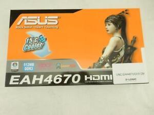 New Boxed ASUS EAH4670 512M DDR3 ATI Radeon HDMI DVI VGA PCIE Video Card